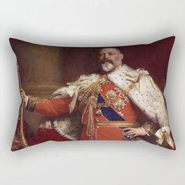 King Edward VII in coronation robes Rectangular Pillow