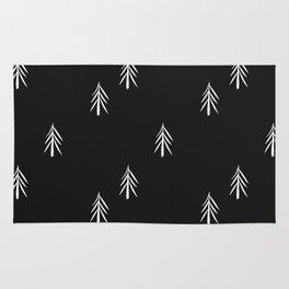 nordic fir trees Rug