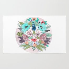 Colourful Bouquet Rug