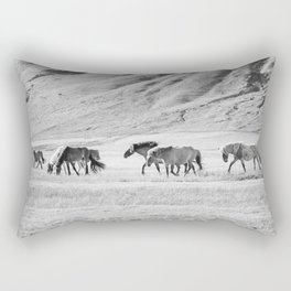 Horses in Iceland Photograph Rectangular Pillow