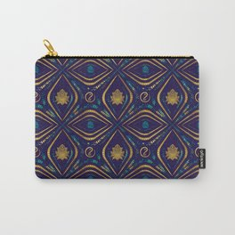 Lotus and OM symbol Luxury Pattern Carry-All Pouch