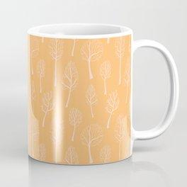 Autumn Bare Trees Pattern Coffee Mug
