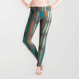 Contemporary Mid-Century Modern Geometric Pattern Leggings