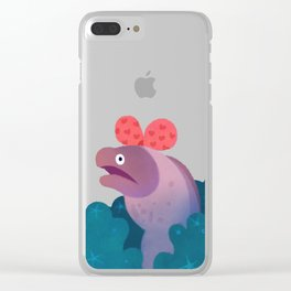 Ribbon eels Clear iPhone Case