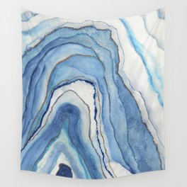 AGATE Inspired Watercolor Abstract 02 Wall Tapestry