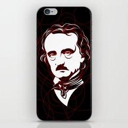 Edgar Allan Poe Circles Portrait iPhone Skin