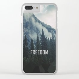 Cross Mountains Clear iPhone Case