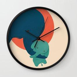 Baby Elephant 2 Wall Clock