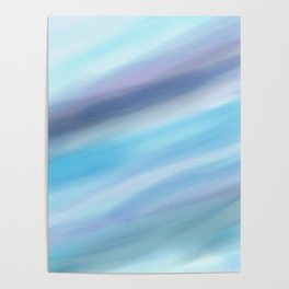 Blue Waves Poster