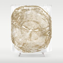 Sundance Pine, Tree Ring Print Shower Curtain