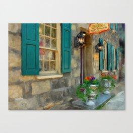 A Victorian Tea Room Canvas Print