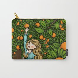 Orange Afternoon Carry-All Pouch