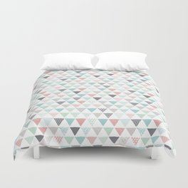 Geometric pastel triangle scandinavian style aztec print Duvet Cover