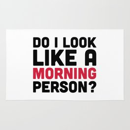 Morning Person Funny Quote Rug