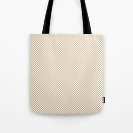 Almond Baby Camel and White Mini Check 2018 Color Trends Tote Bag