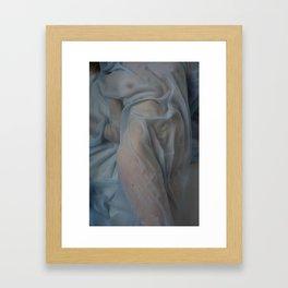 Wet Fabric Framed Art Print