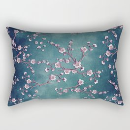 SAKURA LOVE  GRUNGE TEAL Rectangular Pillow