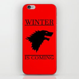 winter cool saying t.v quote and banner iPhone Skin