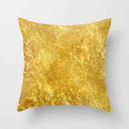 Golden Texture #lifestyle #society6 Throw Pillow
