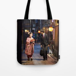 One Night in Gion Tote Bag