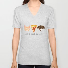 The Pizza Pets Unisex V-Neck