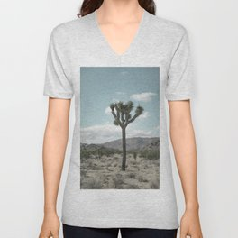 Joshua Tree On A Calm Cool Day Unisex V-Neck