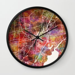 Saratoga Springs map Wall Clock