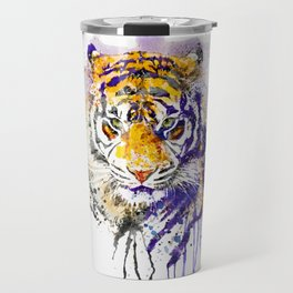 Tiger Head Portrait Travel Mug