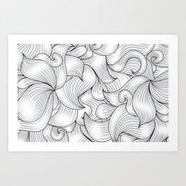 Motif Abstrait Art Print