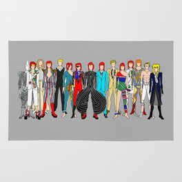Gray Heroes Group Fashion Outfits Rug