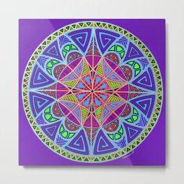 Alignment Mandala Metal Print