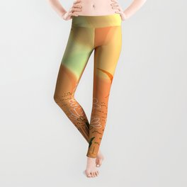Home Is Where The Sun Shines Typography Design Leggings