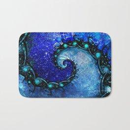 Beautiful Blue Nocturne of Scorpio Sapphire Spiral Bath Mat