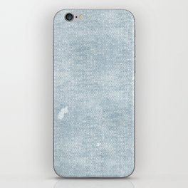 distressed chambray denim iPhone Skin