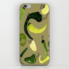 Green Peppers iPhone Skin
