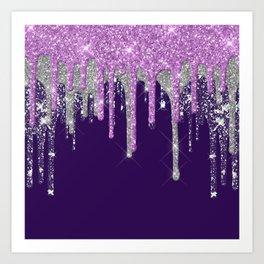 Purple Cake Art Print