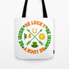 Be Lucky Be Irish St Patricks Day Clover Gold Coin Tote Bag