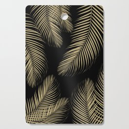 Palm Leaves - Gold Cali Vibes #4 #tropical #decor #art #society6 Cutting Board