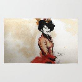 Irene Adler in Watercolor Rug