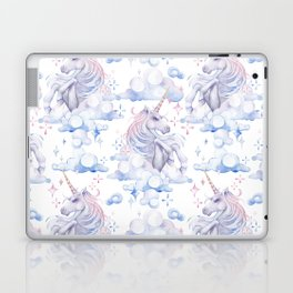 Watercolor unicorn in the sky Laptop & iPad Skin