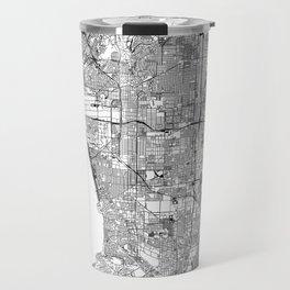 Los Angeles White Map Travel Mug