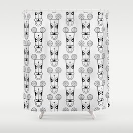 Chicago Bull Pattern Shower Curtain