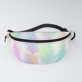 Feathered Spring - White Fanny Pack