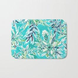 KAILUA CHILL Tropical Hawaiian Floral Bath Mat
