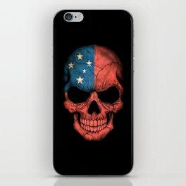 Dark Skull with Flag of Samoa iPhone Skin