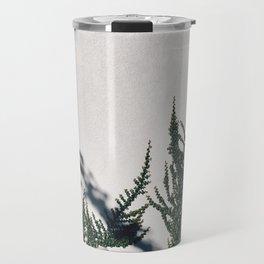Floral White Wall Travel Mug