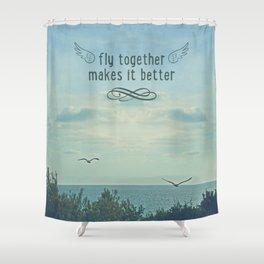 Fly togheter Shower Curtain