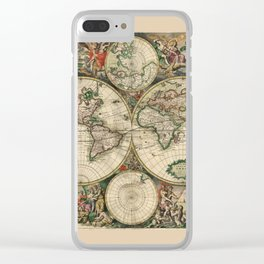 Ancient Map of the World - 1689 Clear iPhone Case