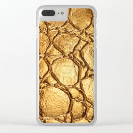 Golden tortoise shell Clear iPhone Case