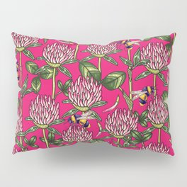 Red clover pattern Pillow Sham